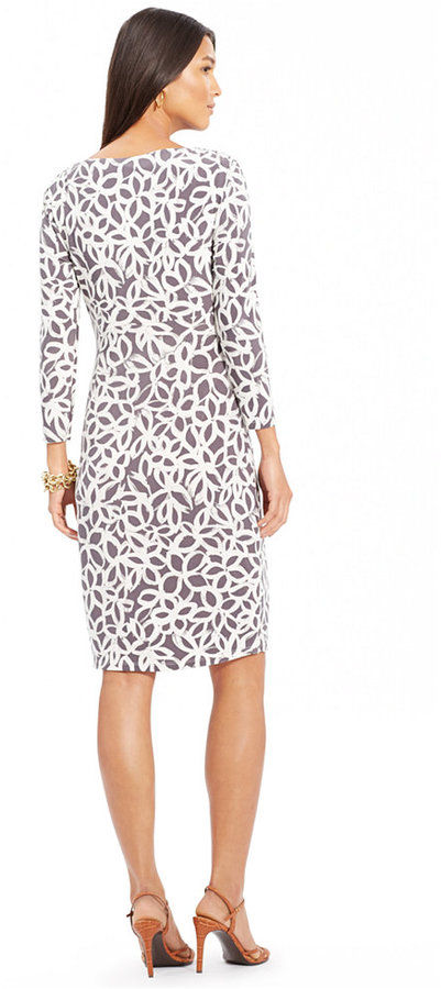 Lauren Ralph Lauren Long-Sleeve Faux-Wrap Sheath Dress 3