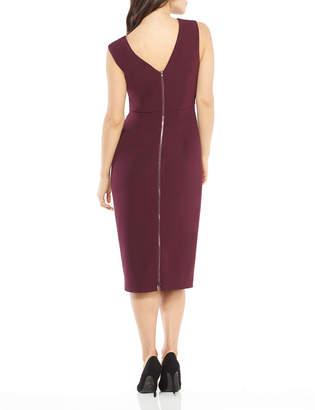 Maggy London Ava Sleeveless V-Neck Sheath Dress