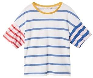 MANGO Contrast striped t-shirt