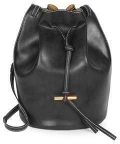 Stella McCartney Faux Leather Medium Belted Bucket Bag