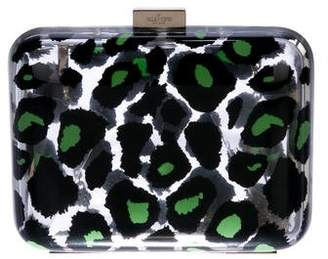 Valentino Printed Plexiglass Box Clutch