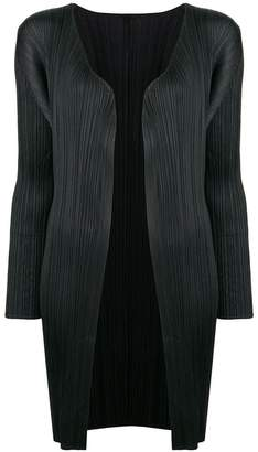 Pleats Please Issey Miyake pleated cardigan coat