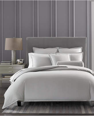 Hotel Collection CLOSEOUT! Ladder Stitch Pique Grey Bedding Collection, Created for Macy's