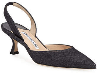 Manolo Blahnik Carolyne Fabric Pump