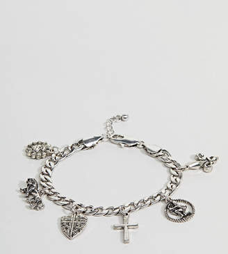 Reclaimed Vintage Inspired Silver Charm Bracelet Exclusive To ASOS