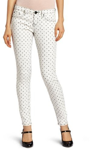 YMI Jeanswear Juniors Mini Heart Print Skinny