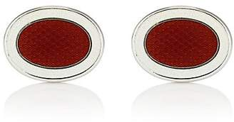 Barneys New York Men's Oval Cufflinks - Orange