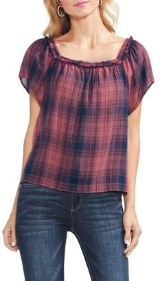 Vince Camuto Sunset Plaid Top
