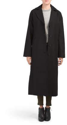 Empire Notch Collar Wool Blend Coat