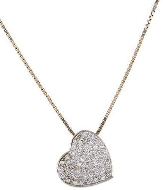 18K Diamond Pavé Heart Pendant Necklace