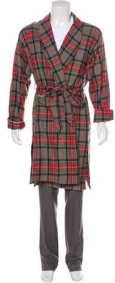 Fear Of God Fifth Collection Plaid Wool Robe w/ Tags red Fifth Collection Plaid Wool Robe w/ Tags