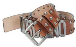 Moschino Studded Leather Belt