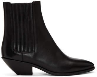 Saint Laurent Black West Chelsea Boots