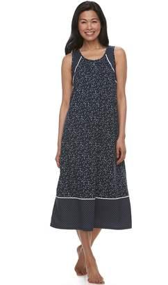 Croft & Barrow Women's Colorblock Printed Nightgown