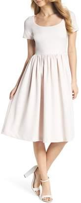 Gal Meets Glam Annie Scuba Crepe Fit & Flare Dress