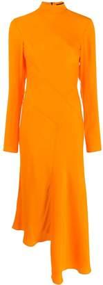 House of Holland mock neck long dress