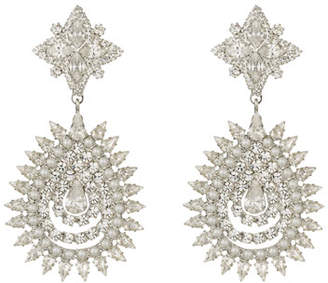 Dannijo Lea Crystal & Pearly Statement Earrings