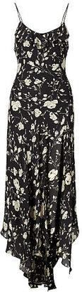 Polo Ralph Lauren Floral-Print Silk Maxidress $398 thestylecure.com