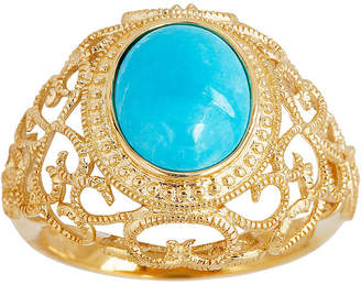 FINE JEWELRY LIMITED QUANTITIES Genuine Turquoise Scroll Ring