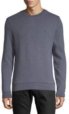Original Penguin Quilted Crewneck Cotton Sweater