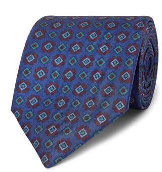 Charvet 7.5cm Printed Silk-Faille Tie