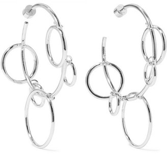 Jennifer Fisher Quad Hoops Silver-plated Earrings