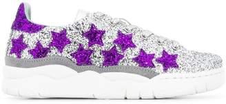 Chiara Ferragni glitter stars sneakers