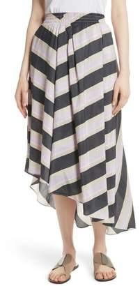 Apiece Apart Turkanna Linen & Silk Asymmetrical Skirt