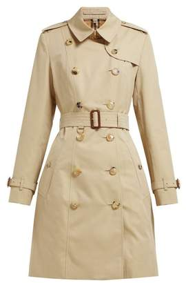 Burberry Chelsea Heritage Cotton Gabardine Trench Coat - Womens - Beige