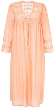 Ne Quittez Pas lace detail long gown cardigan