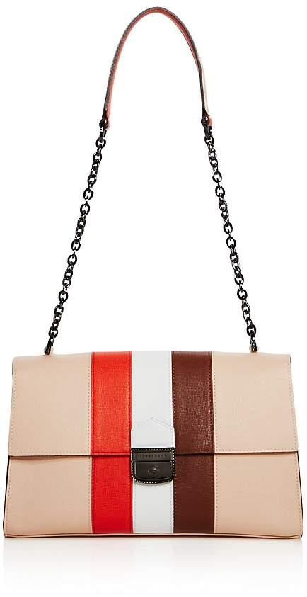 Longchamp Effronté Leather Shoulder Bag - NUDE MULTI/GUNMETAL - STYLE