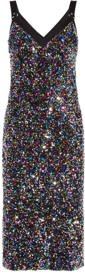 Sequin Embellished Midi Dress