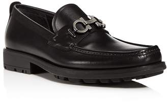 Salvatore Ferragamo Men's David Double Gancini Bit Thick Lug Leather Loafers