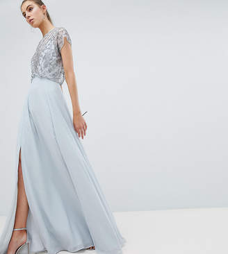 Asos Tall DESIGN Tall delicate beaded bodice maxi dress