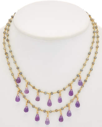 Rachel Reinhardt 14K Over Silver Gemstone Necklace