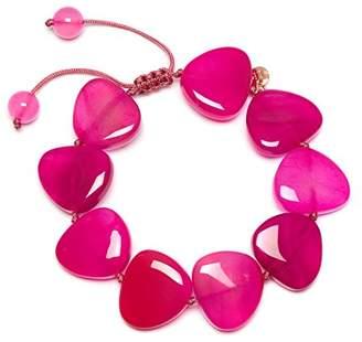 Lola Rose Women Red Coral Agate Strand Bracelet of Length 18cm 690218