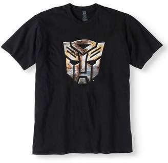 Movies & TV Transformers Big Men's Autobot Logo Short Sleeve Graphic T-Shirt