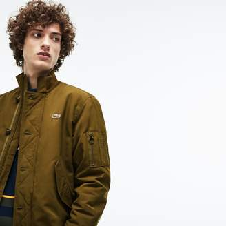 Lacoste Men's Contrast Finish Quilted Water-Resistant Bomber