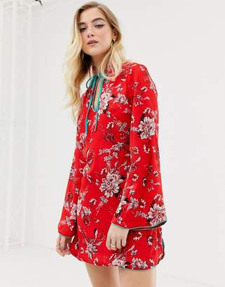 Glamorous floral shirt dress