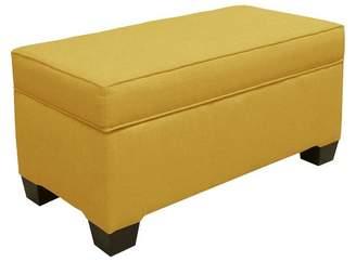 Skyline Furniture Custom Upholstered Box Seam Bench