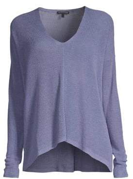 Eileen Fisher V-Neck Boxy Sweater