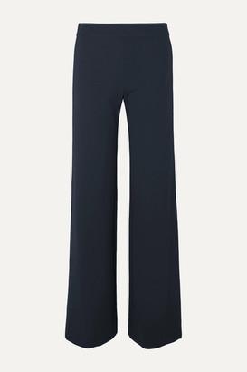 Derek Lam Striped Stretch-cady Wide-leg Pants - Navy