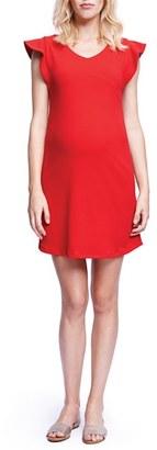 Women's Maternal America Flutter Sleeve Maternity Dress $148.80 thestylecure.com