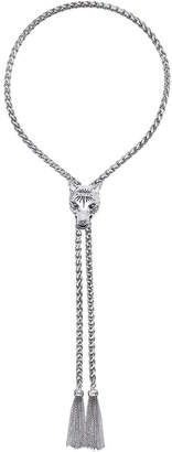 Gucci Silver Anger Forest Wolf Head Necklace