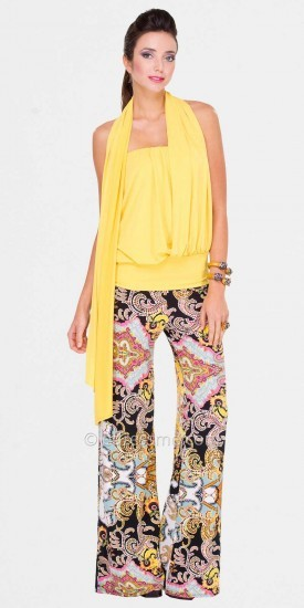 Adrianna Papell Julian Chang Flowing Wide Leg Pants