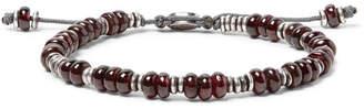 M. Cohen Templar Sterling Silver And Garnet Bracelet