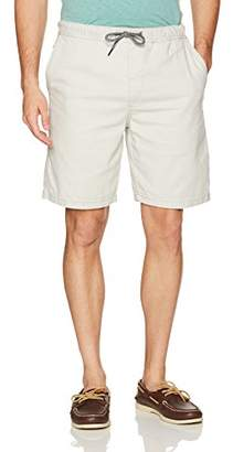 UNIONBAY Men's Vintage Stretch Canvas Pull-on Elastic Waistband Short