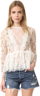 endless rose Embroidered Lace Top $109 thestylecure.com