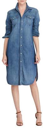 Polo Ralph Lauren Denim Western Cotton Shirtdress