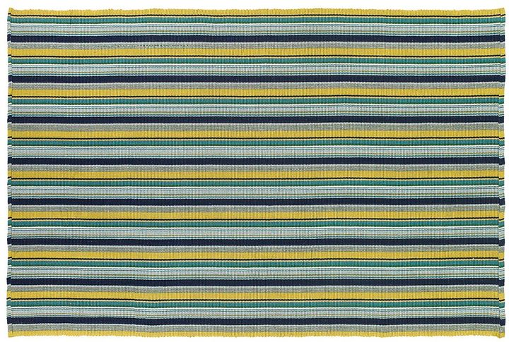 Couristan Couristan Bar Harbor Lemon Drop Striped Reversible Cotton Rug